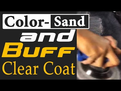 How To Color-Sand and Buff Clear Coat To Get PRO Mirror Finishes!