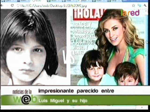 Luis Miguel tiene su mini clon: Su hijo Miguelito