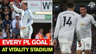 Manchester United | Every Premier League Goal At Bournemouth | Rooney, Ibrahimovic, Rashford