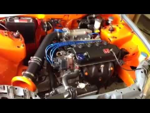 civic eg sedan wire tuck and shaved engine bay - YouTube