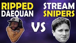 RIPPED DAEQUAN VS STREAM SNIPERS | SHOTGUN PATCH  | FUNNY HIGH KILL GAME - (Fortnite Battle Royale)