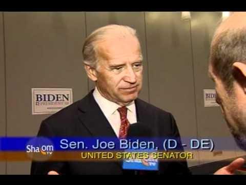 US Senator Joe Biden on Israel