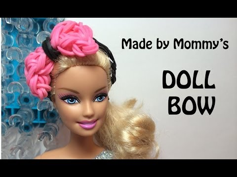 Bow Ring or Doll Hair Bow Charm on the Rainbow Loom