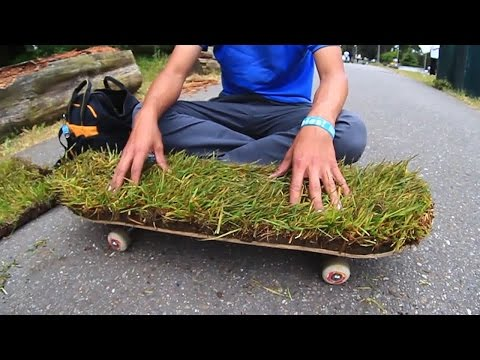 MAKING A SKATEBOARD WITH GRASS GRIPTAPE