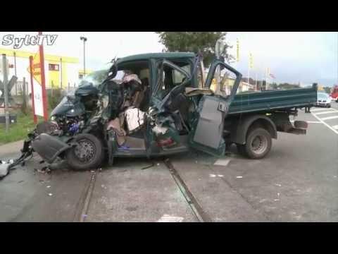 Schlimmer Unfall mit einem Güterzug in Tinnum