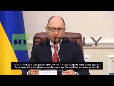 Ukraine: Yatsenyuk announces Russia gas payment plan