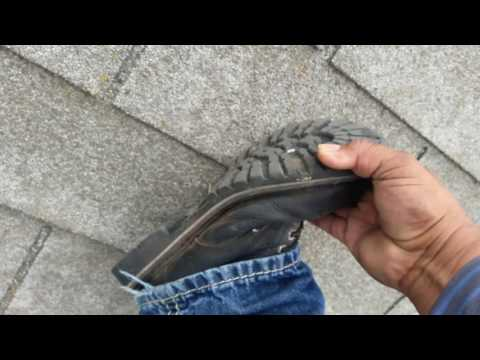 The Best Roofing shoes to walk on steep roofs , gotta know this secret ...watch this!
