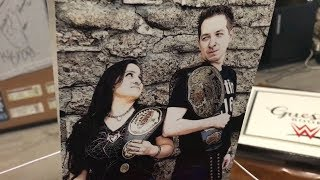 Two WWE fans going all out for wrestling-themed wedding
