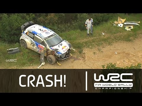 Jari-Matti Latvala´s Crash SS05/ Vodafone Rally de Portugal 2014