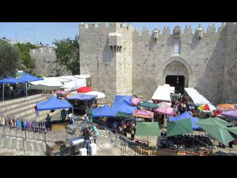 Jerusalem - Damascus Gate and the market during Ramadan