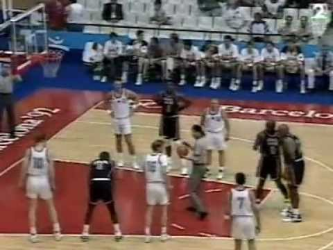Usa vs Germany Barcelona 1992 Olympic Games Dream Team