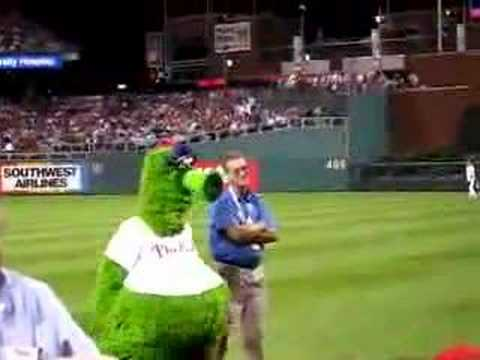 The Phillie Phanatic Scratches Himself