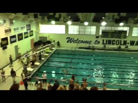Mia swimming at Lincoln Way East High School - June 2013