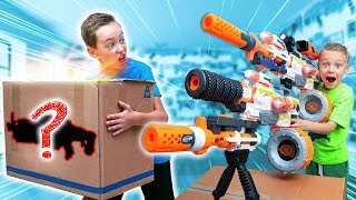 NERF Game: MYSTERY Box of CRAZY BIG Nerf Blaster Combos