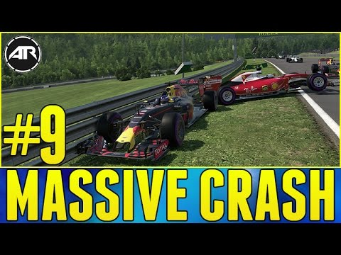 F1 2016 : MASSIVE CRASH!!! (F1 2016 Career Mode, Austrian GP, Part 9)