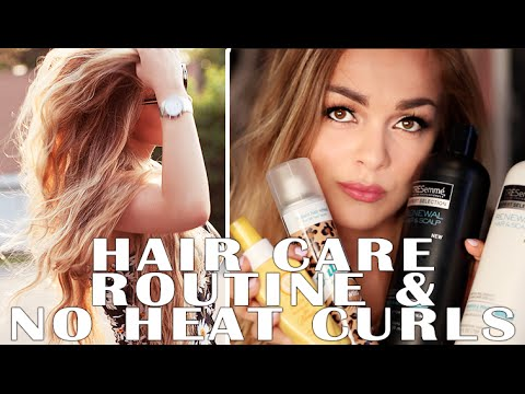 PERFECT SUPER EASY NO HEAT CURLS & HAIR CARE ROUTINE!