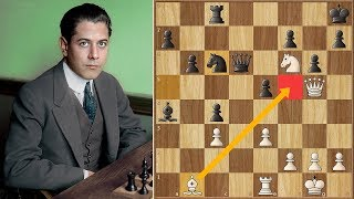 The Move Of All Moves Capablanca Vs Marshall Game 11