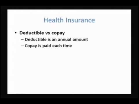 Personal Finance: Class 4 - Insurance