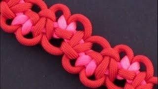 How to Make the Tumbling Hearts Bar (Paracord) Bracelet by TIAT