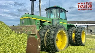 Download Lagu Awesome Classic John Deere Tractor Power Putting Up Corn Silage Gratis STAFABAND