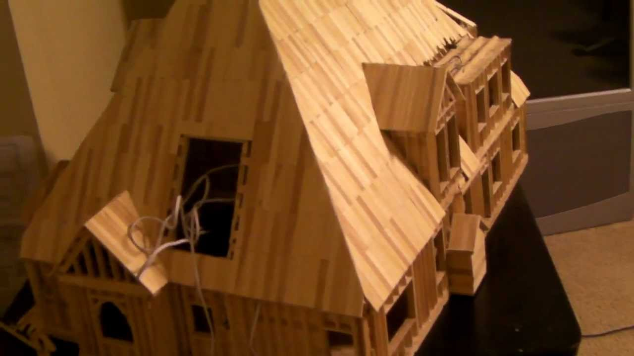23 Building Popsicle Stick House Youtube