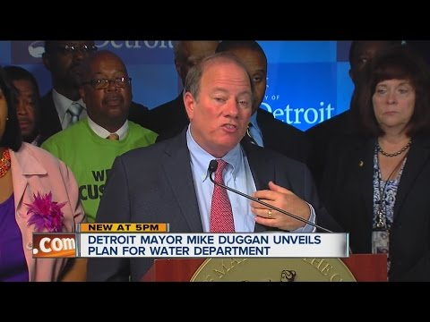 Detroit Mayor Mike Duggan unveils plan for water department