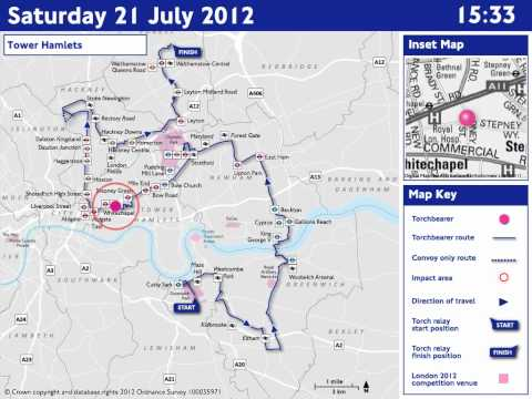 ROADS: Saturday 21 July - Olympic Torch Relay