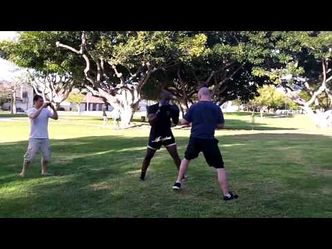 Muay Thai vs Muay Thai Boar Bando at OC Open Martial Arts Meetup Sparring Image 1