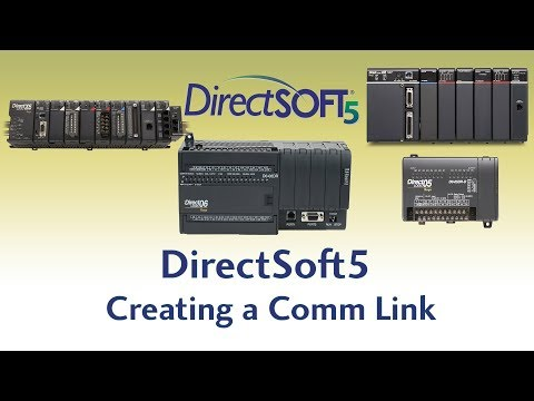DirectSoft5 Programming Software - Creating a Communication Link