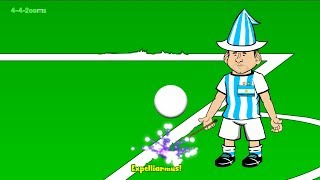 IRAN v ARGENTINA 0-1 by 442oons (Lionel Messi World Cup 2014 Cartoon 21.6.14)