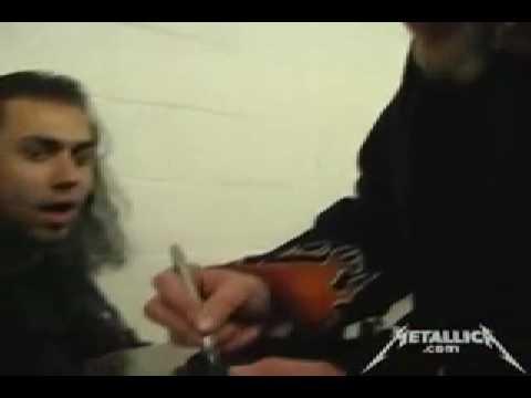Хэтфилд подарил гитару фанату
