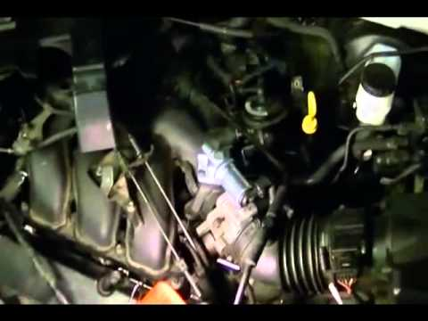 Location of the PCV valve on a 2001 Mazda Tribute and Ford Escape 3.0L V6 Duratec Engine