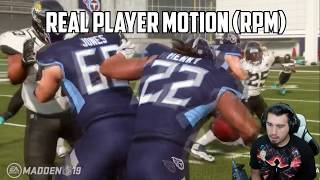 OFFICIAL MADDEN 19 RUNNING GAMEPLAY - ONE CUT, HIT THE HOLE, LOCOMOTION MOMENTUM IN MADDEN 19