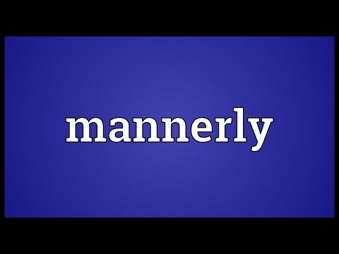 Header of mannerly