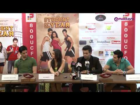 Student of the Year Press Conference in Dubai