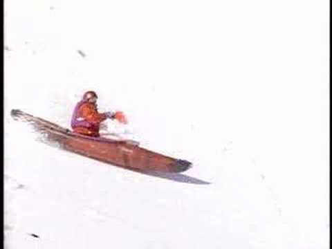 Snow Kayaking Video