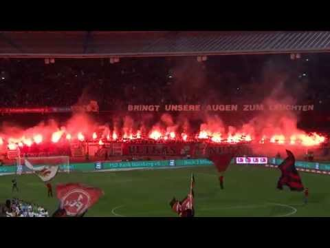 1.FC Nürnberg - VfB Stuttgart 2:0 - Pyrointro Nordkurve Nürnberg - 26.03.14