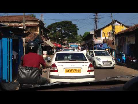 Im Taxi nach Dabolim (Goa)