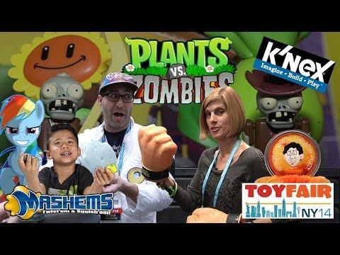 PLANTS Vs. ZOMBIES K'Nex, MASH'EMS, Crazy Aaron's THINKING PUTTY!  NY Toy Fair 2014