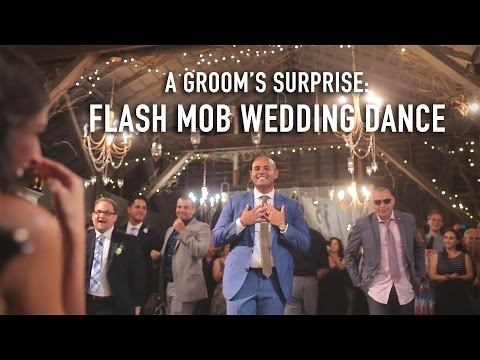Groom Performs Surprise Flash Mob Dance For His Bride video