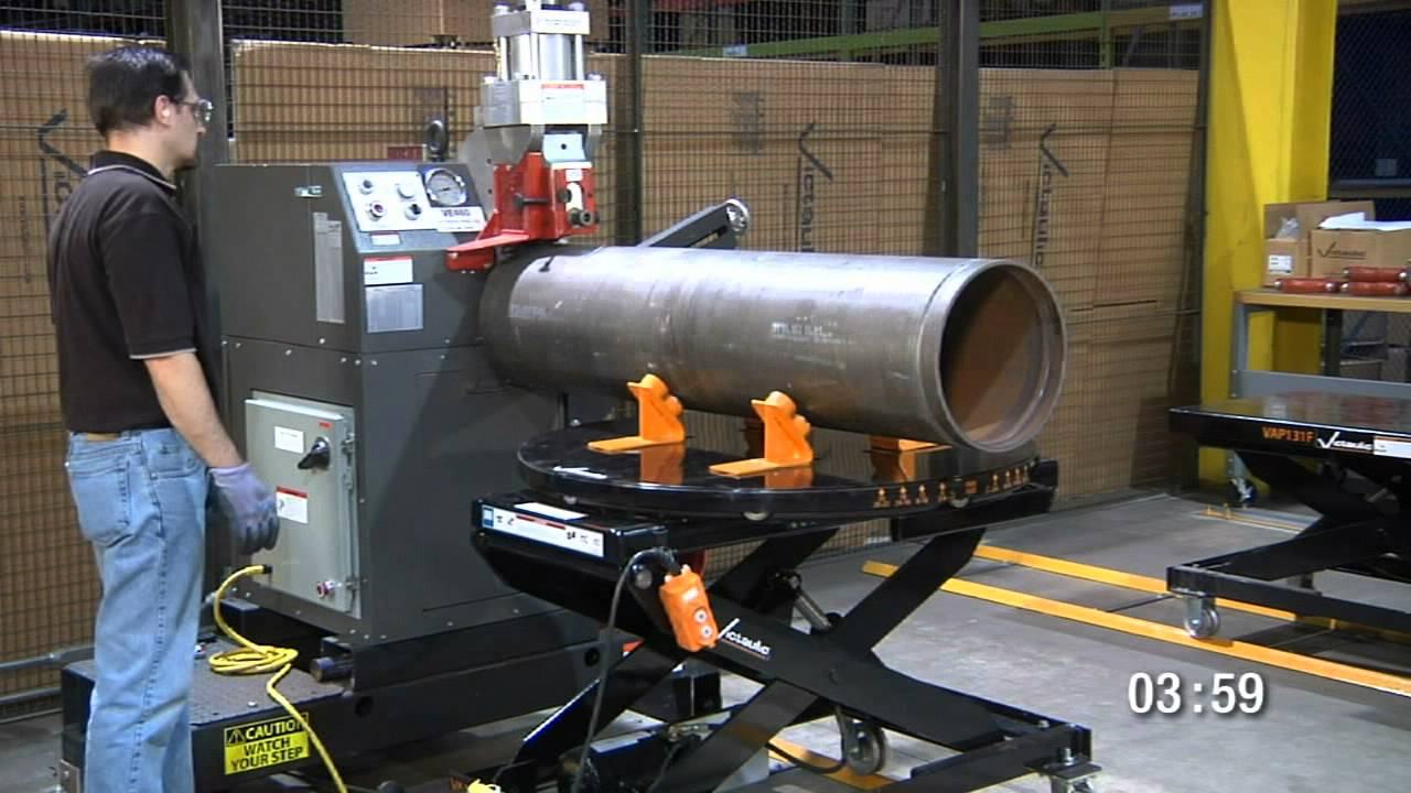 victaulic pipe grooving machine
