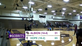 MIAA women's basketball: Hope at Albion