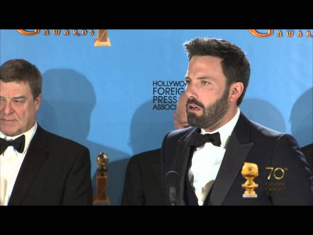 Backstage with Ben Affleck, best director and the filmmakers Argo, best drama