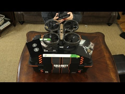 Call of Duty Black Ops 2 Care Package Unboxing & Review (with Quadrotor Drone Demo)