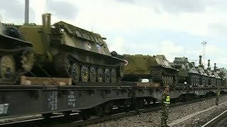 RAW: Chinese, Russian troops gather for SCO Peace Mission 2014 drills