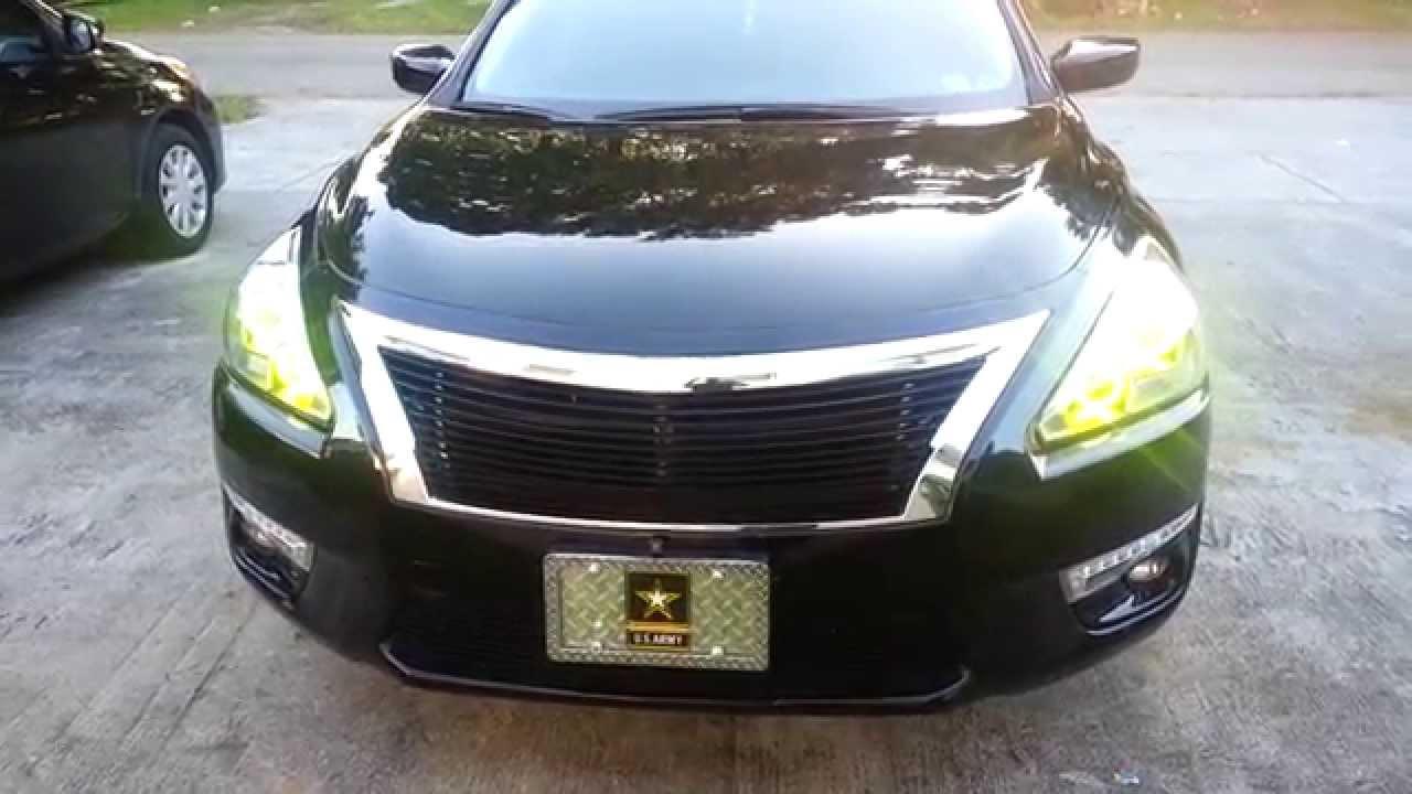 2014 Nissan Altima >> 2013 Nissan Altima custom Halo Rings - YouTube
