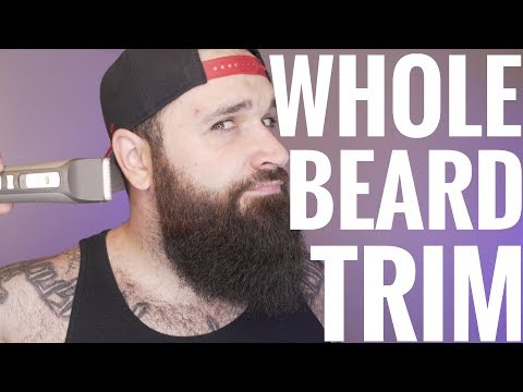 How to trim your WHOLE beard   Tutorial