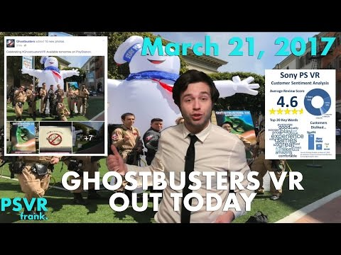 Daily PSVR Review - Ghostbusters VR Out Today. Unprecedented PSVR Reviews. & Rush of Blood Giveaway