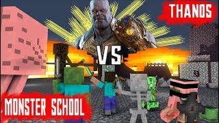 MONSTER SCHOOL VS THANOS AVENGERS : END GAME - Minecraft Animation
