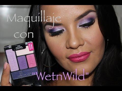 Maquillaje c Wet n Wild Tonos Morado,Lila y Rosa !!